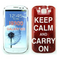 Samsung Galaxy S3 Crown Keep Calm and Carry On Design Case