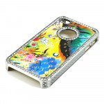 Wholesale iPhone 4 4S  Butterfly Crystal Diamond Chrome Case (Rainbow)