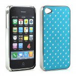 Wholesale iPhone 4 4S  Star Diamond Chrome Case (Blue)