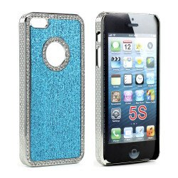 iPhone 5 5S  Glitter Diamond Chrome Case (Blue)