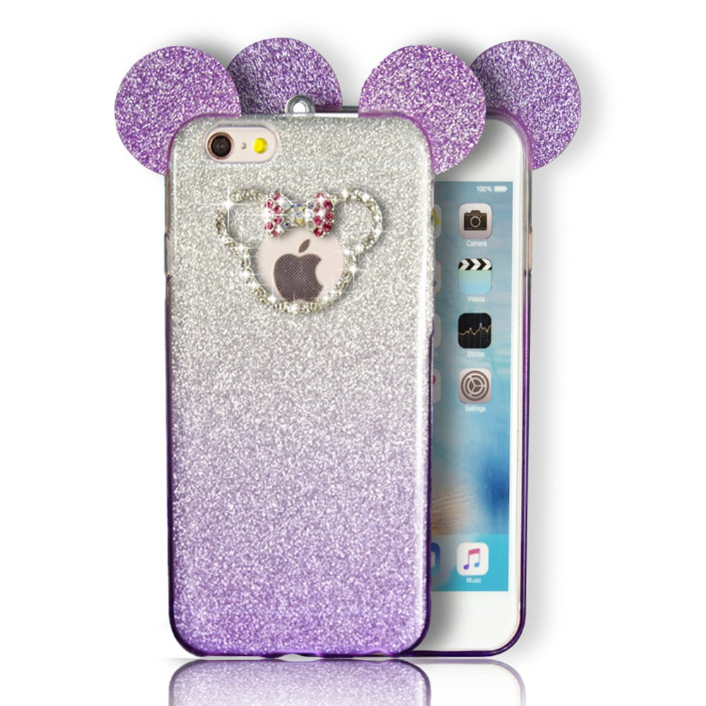 Wholesale Iphone 7 Plus Minnie Bow Diamond Glitter