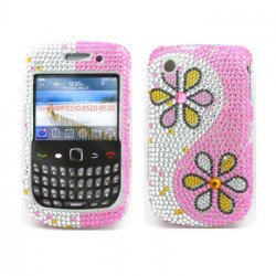 BlackBerry 8520 9300 Diamond Case (Flower)