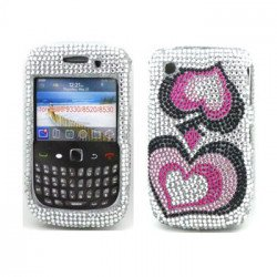 BlackBerry 8520 9300 Diamond Case (Heart)