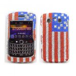 Wholesale Diamond Flag case for BlackBerry 9700