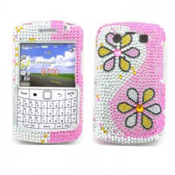 Diamond Flower case for BlackBerry 9700