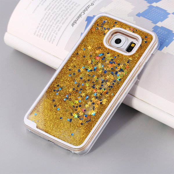 Wholesale Galaxy S7 Glitter Shake Shake Star Dust Case (Gold)