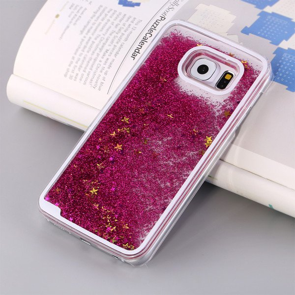 Wholesale Galaxy S7 Glitter Shake Shake Star Dust Case (Hot Pink)