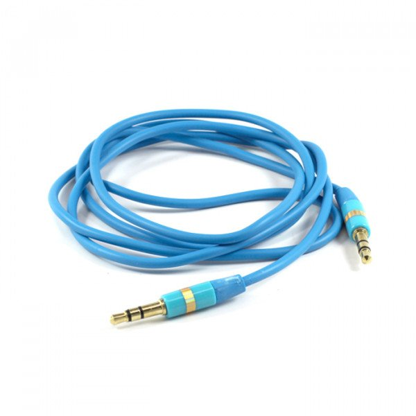 Wholesale Auxiliary Cable 3.5mm to 3.5mm Cable (Blue)
