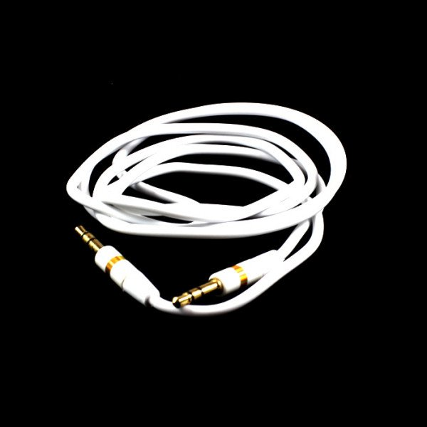 Wholesale Auxiliary Cable 3.5mm to 3.5mm Cable (White)
