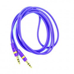 Auxiliary Cable 3.5mm to 3.5mm Cable (Purple)