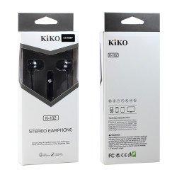 KIKO K-102 HD Stereo Earphone Headset with Mic (K-102 Black)