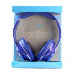 Wholesale HiFi Sound Stereo Headphone with Mic TV05 (Blue)