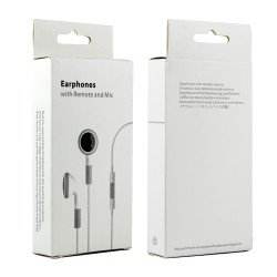 iPhone 4S Style Stereo Earphone Headset with Mic and Volume Control (White)