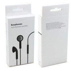 iPhone 4S Style Stereo Earphone Headset with Mic and Volume Control (Black)