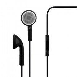 iPhone 4S Style Stereo Earphone Headset with Mic (Black)