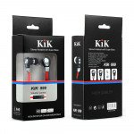 Wholesale KIK 999 Stereo Earphone Headset with Mic and Volume Control (999 Red)