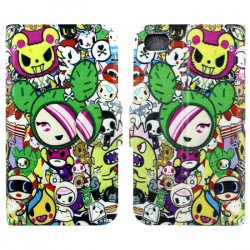 iPhone 4S 4 Slim Flip Design Wallet Case (Cartoon)