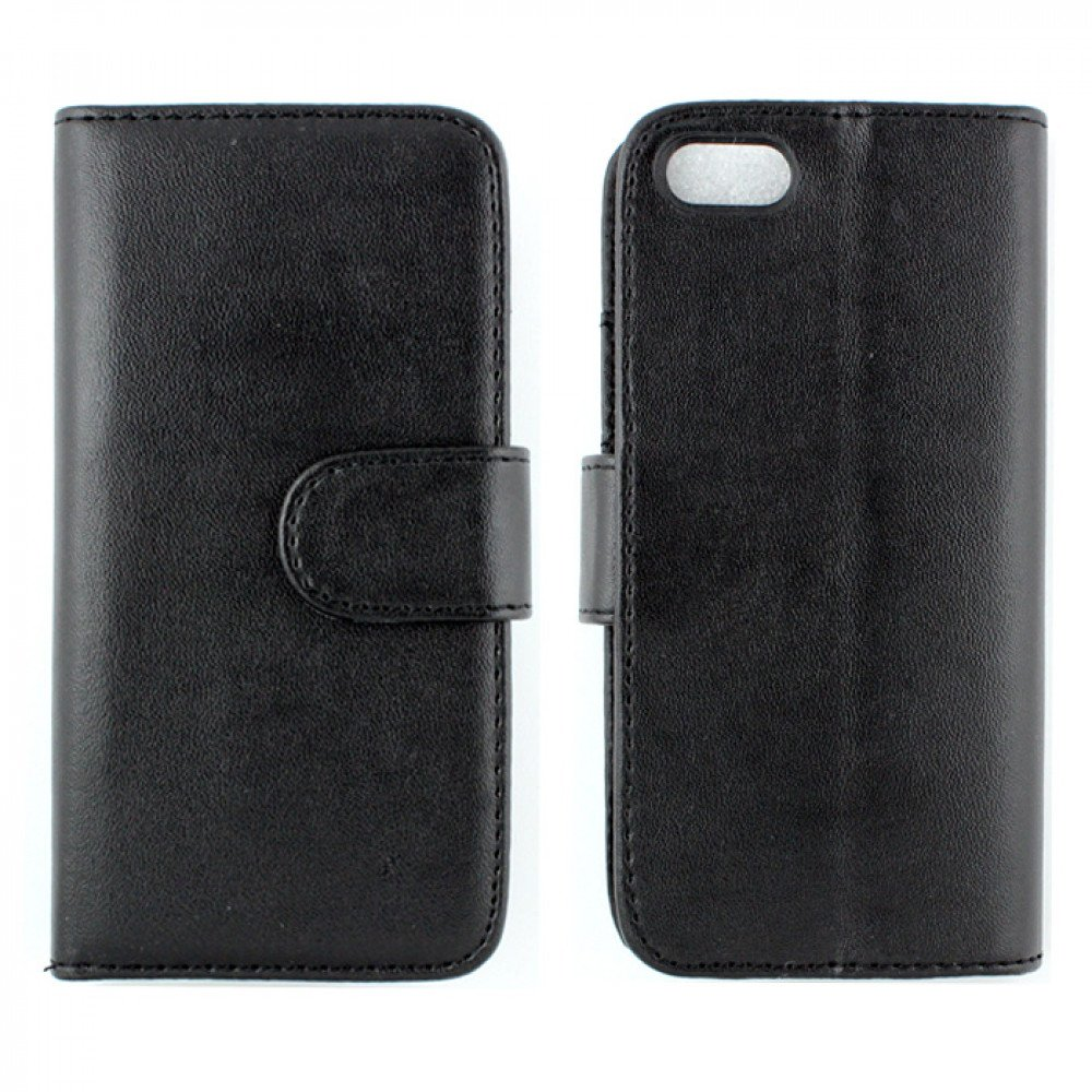 Wholesale iphone 5 5s simple leather wallet case with stand black - Iphone 5s leather case ...