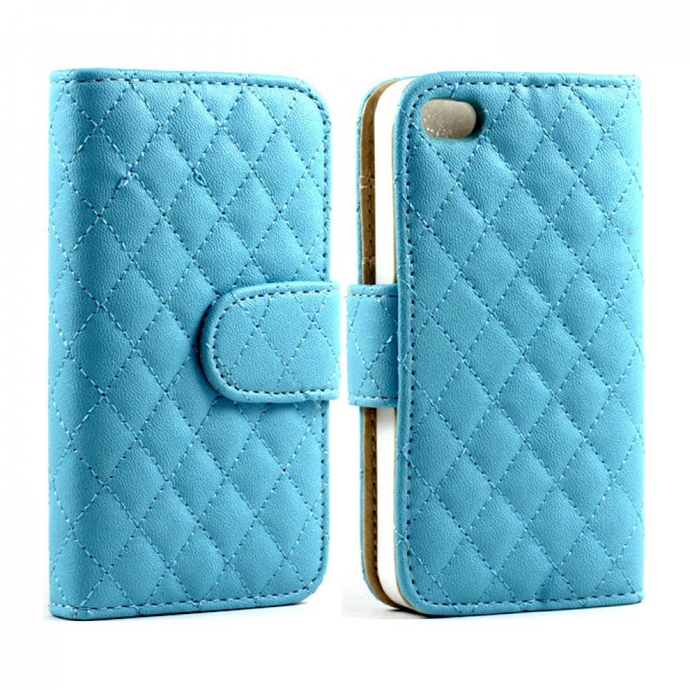 iphone 5c wallet case iphone 5c quilted flip leather wallet blue 1995
