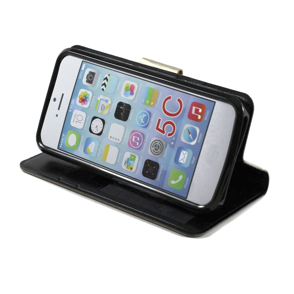 cheap iphone 5c iphone 5c slim flip leather wallet black 10368