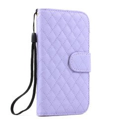 Galaxy S3 /i9300 Square Wallet Flip Leather Case with Stand (Purple)
