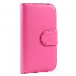 Galaxy S3 /i9300 Simple Flip Leather Wallet Case with Stand  (Pink)