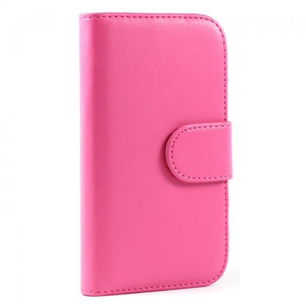 Wholesale Galaxy S3 /i9300 Simple Flip Leather Wallet Case with Stand  (Pink)
