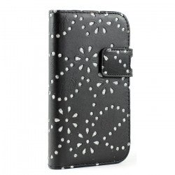Galaxy S3 /i9300 Diamond Flip Leather Wallet Case with Stand (Black)