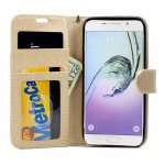 Wholesale Samsung Galaxy S6 Edge Plus Folio Flip Leather Wallet Case with Strap (Champagne Gold)