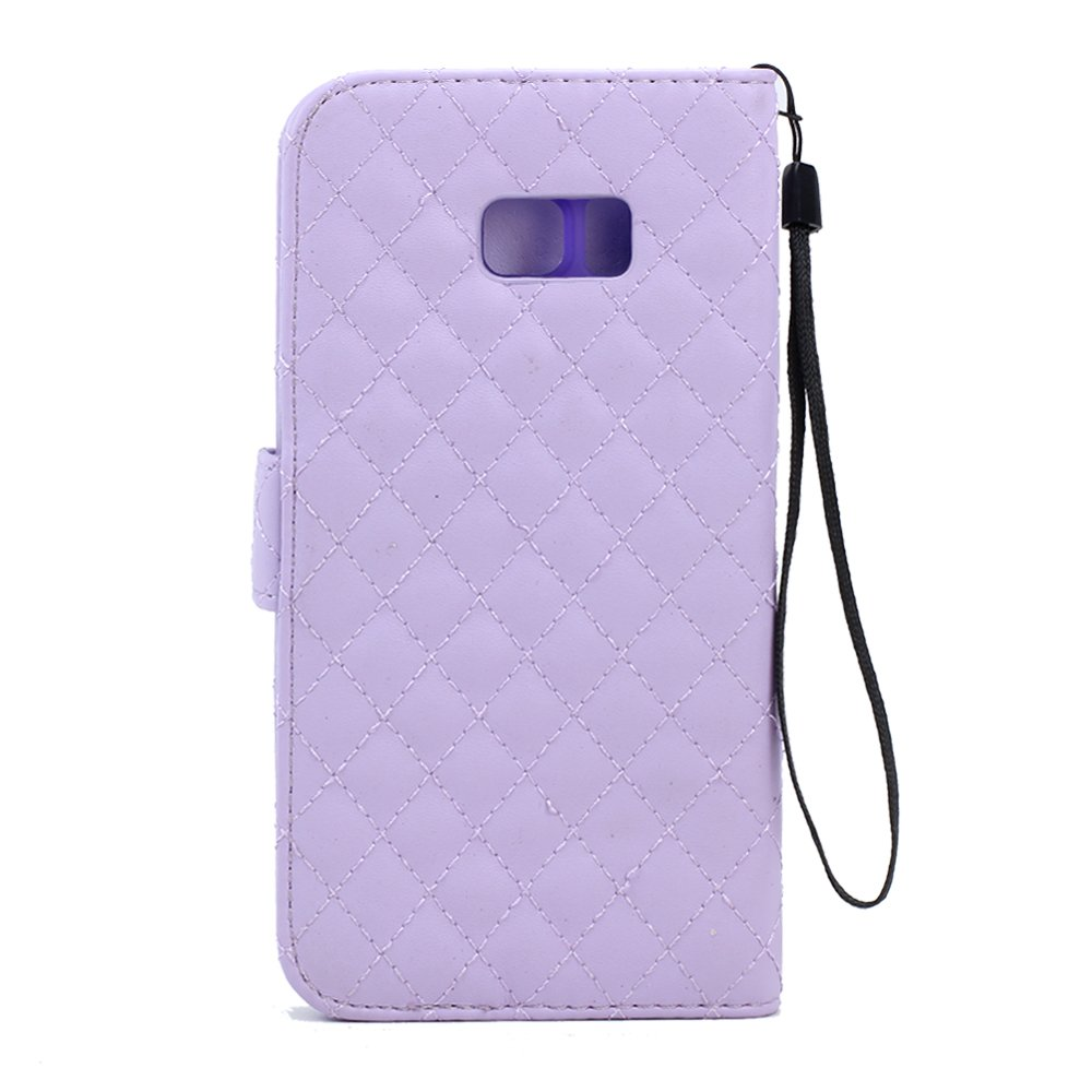 wholesale samsung galaxy s6 edge plus quilted flip leather. Black Bedroom Furniture Sets. Home Design Ideas