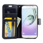 Wholesale Galaxy S7 Folio Flip Leather Wallet Case with Strap (Black)