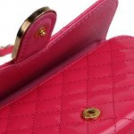 Wholesale iPhone 6 Plus Note 4 Universal Diamond Flip Wallet Strap Purse Case (Hot Pink)
