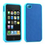 Wholesale iPhone 4S 4 Anti-Slip Hard Protector Cover (Blue)