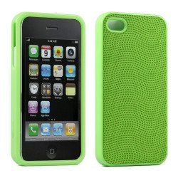 iPhone 4S 4 Anti-Slip Hard Protector Cover (Green)