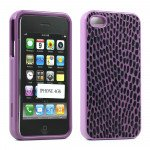 Wholesale iPhone 4S 4 Anti-Slip Hard Protector Cover (Purple)