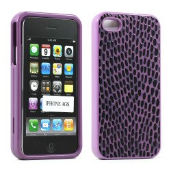 iPhone 4S 4 Anti-Slip Hard Protector Cover (Purple)