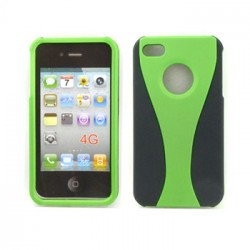 iPhone 4S Hybrid Cup Case (GreenBlack)