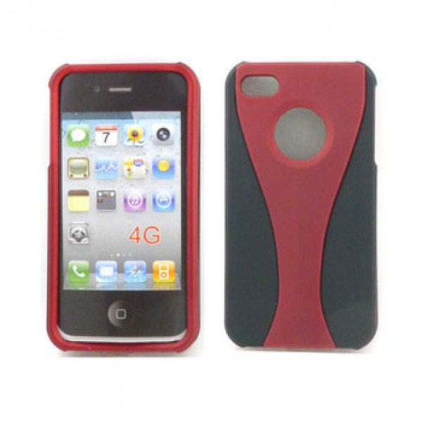 Wholesale iPhone 4S Hybrid Cup Case (RedBlack)