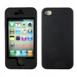 Wholesale iPhone 4S 4 Hard Protector Cover (Black)