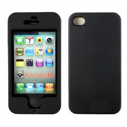 iPhone 4S 4 Hard Protector Cover (Black)