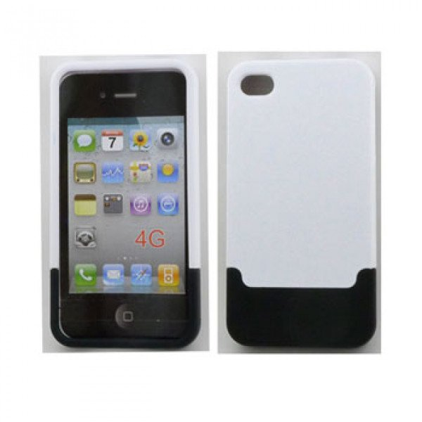Wholesale iPhone 4 4S Push Up Case (WhiteBlack)