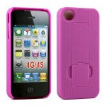 Wholesale iPhone 4S Kick Stand Case (Purple)
