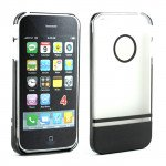 Wholesale iPhone 4 4S Two Tone Case (ClearBlack)
