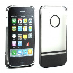 iPhone 4 4S Two Tone Case (ClearBlack)