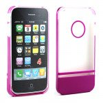 Wholesale iPhone 4 4S Two Tone Case (ClearPurple)