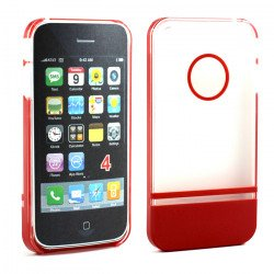 iPhone 4 4S Two Tone Case (ClearRed)