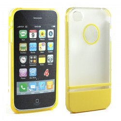 iPhone 4 4S Two Tone Case (ClearYellow)