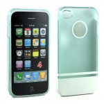 Wholesale iPhone 4 4S Two Tone Case (LightBlueWhite)