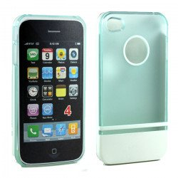 iPhone 4 4S Two Tone Case (LightBlueWhite)