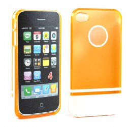 iPhone 4 4S Two Tone Case (OrangeWhite)
